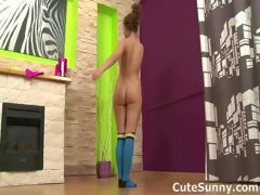 Naked teen gymnast shows...
